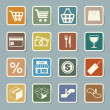 Shopping sticker icons set. - Stock Vector