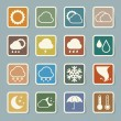 Icon set of weather — Stock Vector