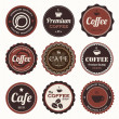 Vintage coffee badges and labels. — Stock Vector