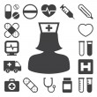 Medical icons set, . Illustration - Stock Vector