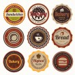 Set of vintage bakery badges and labels. — Stock Vector