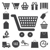 Shopping icons set. Illustration — Vecteur
