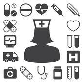 Medical icons set, . Illustration — Stock Vector