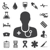Medical icons set, . Illustration — Stock Vector