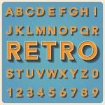 Retro type font, vintage typography . — Stock Vector #26345637