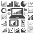 Business-Grafik-Icon-set — Stockvektor