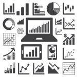 Business-Grafik-Icon-set — Stockvektor