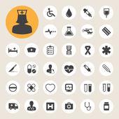 Iconos medical set, ilustración — Vector de stock