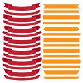 Set of old ribbon banner,Illustration — Stock Vector