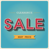 Clearance sale Retro type font — Stock Vector