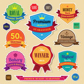 Set of retro vintage badges and labels — Stock Vector