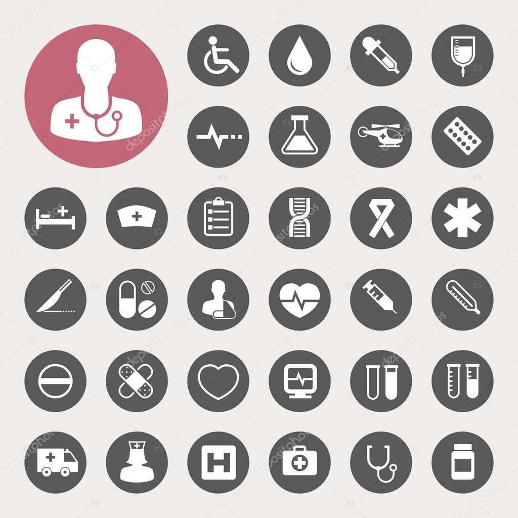 Medical icons set,Illustration — Stock Vector © kanate #26345715