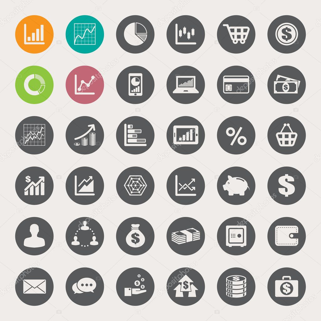 Finance Icon Set: Business And Finance Icon Set.