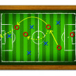 Royalty-Free Stock Photo: Tactics Soccer in the wooden frame.