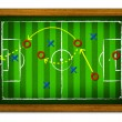 Stock Photo: Tactics Soccer in wooden frame.
