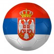 3d rendering of a soccer ball. ( Serbia Flag Pattern ) — Stock Photo #26647653
