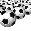 3d rendering of a soccer ball. ( Leather texture ) — Stock Photo