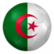 3d rendering of a soccer ball. ( Algeria Flag Pattern ) — Stock Photo