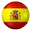 3d rendering of a soccer ball. ( Spain Flag Pattern ) — Stock Photo