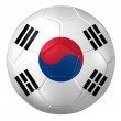 3d rendering of a soccer ball. ( South Korea Flag Pattern ) — Stock Photo #26648099