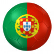 3d rendering of a soccer ball. ( Portugal Flag Pattern ) — Stock Photo