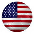 3d rendering of a soccer ball. ( USA Flag Pattern ) — Stock Photo #26648237