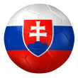 3d rendering of a soccer ball. ( Slovakia Flag Pattern ) — Stock Photo #26648437