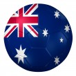 3d rendering of a soccer ball. ( Australia Flag Pattern ) — Stock Photo