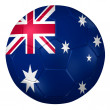 3d rendering of a soccer ball. ( Australia Flag Pattern ) — Stock Photo #26648547