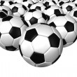 3d rendering of a soccer ball. ( Leather texture ) — Stock Photo #26648801