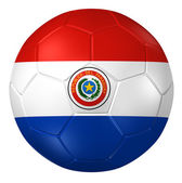3d rendering of a soccer ball. ( Paraguay Flag Pattern ) — Stock Photo