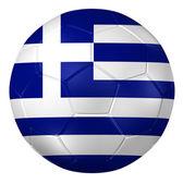 3d rendering of a soccer ball. ( Greece Flag Pattern ) — Стоковое фото