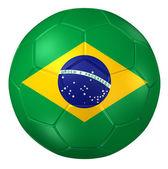 3d rendering of a soccer ball. ( Brazil Flag Pattern ) — 图库照片