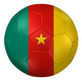 3d rendering of a soccer ball. ( Cameroon Flag Pattern ) — Stockfoto