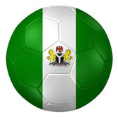 3d rendering of a soccer ball. (Nigeria Flag Pattern ) — Stock Photo