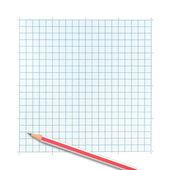 方格纸背景上的彩色的铅笔 — 图库照片