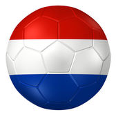 3d rendering of a soccer ball. ( Netherland Flag Pattern ) — Stock Photo