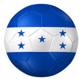 3d rendering of a soccer ball. ( Honduras Flag Pattern ) — Stock Photo