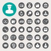 Education icons set. Illustration — Stock Vector