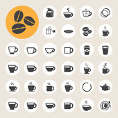 Coffee cup and Tea cup icon set. — Stock Vector