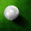 Soccer football on grass field — Stock Photo #28189093