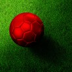 Soccer football on grass field — Stock Photo #28189139