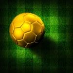 Soccer football on grass field — Stock Photo #28189257