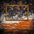 Picture frames on concrete  wall — Stock Photo