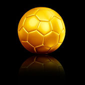 A soccer football with reflection — Stock Photo