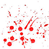 Splattered red watercolor background — Stock Photo