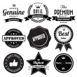 Set of retro vintage badges and labels — Stock Vector #28190989