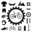 Bicycle icons set — Stock Vector #28191021