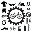 Stock Vector: Bicycle icons set