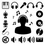Music icon set. — Stock Vector #28191041